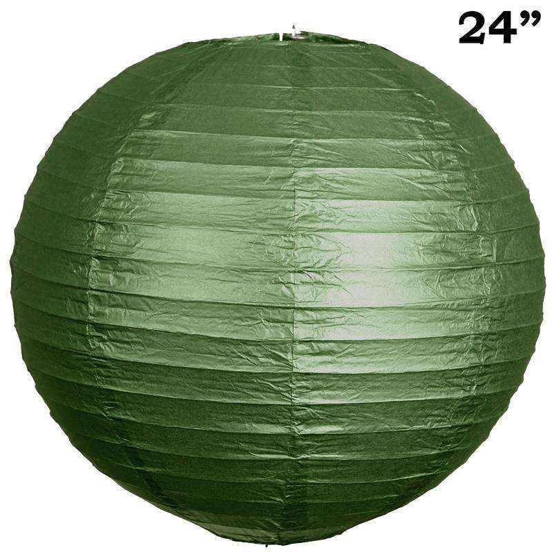 "30"" Paper Chinese Lantern Lamp Shade Hanging Party Event Decor Set - Green - 12 PCS"