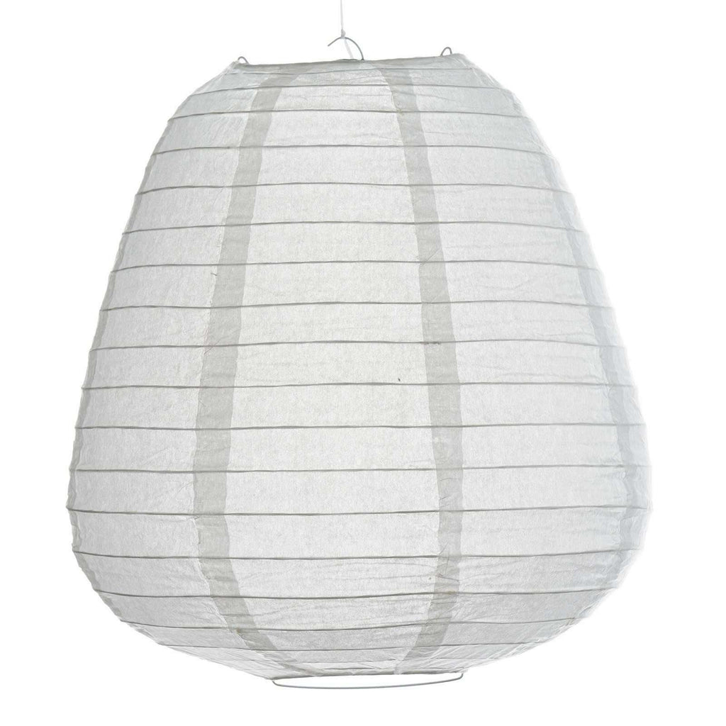 Enticing Teardrop Chinese Paper Lanterns - White- 3 PCS
