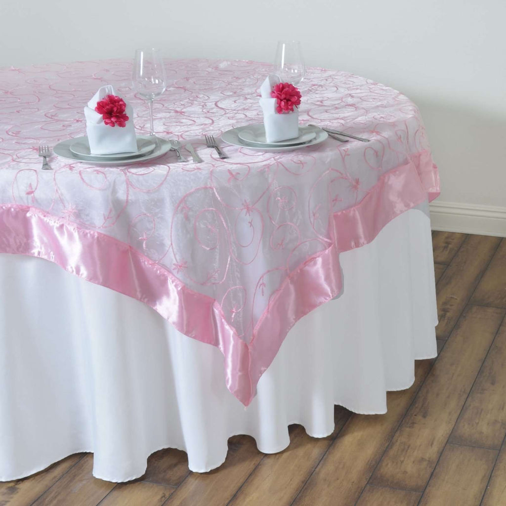 "60"" Overlay Embroider - Pink"