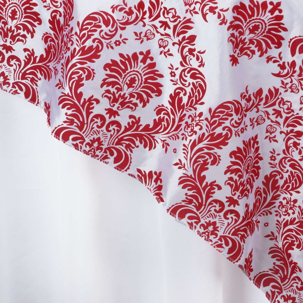 "60"" Overlay Flocking - White / Red"