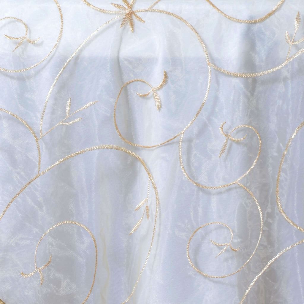 72 Overlay Embroider - Champagne