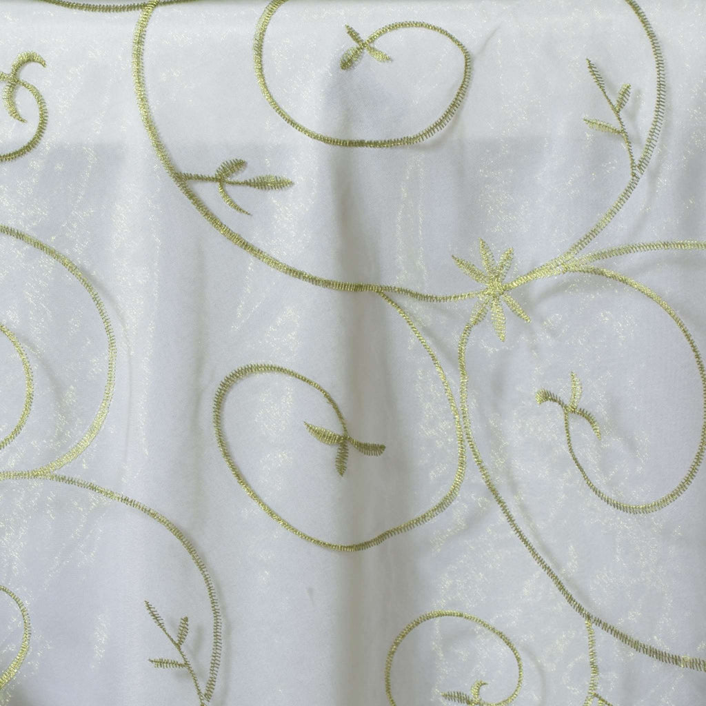 "72"" Overlay Embroider - Willow Green"