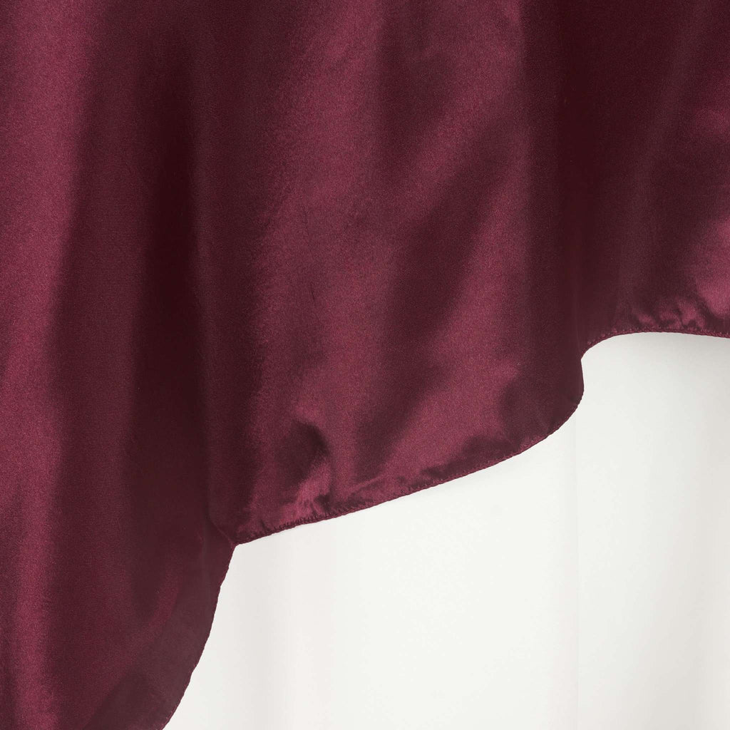 "72"" SATIN Square Overlay For Wedding Catering Party Table Decorations - BURGUNDY"
