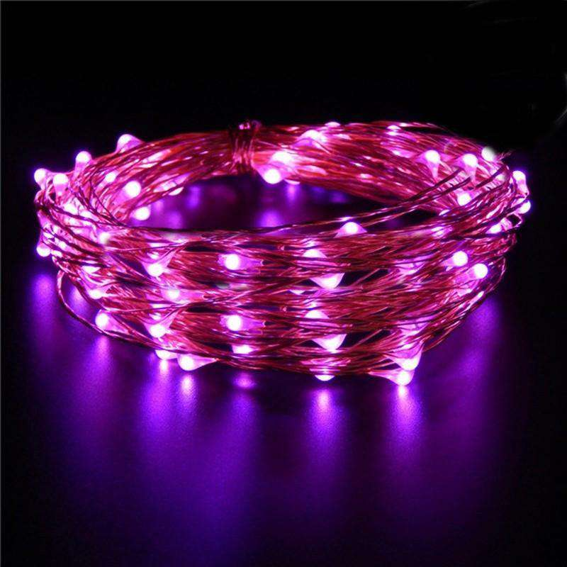 7.5 FT 20 LED Fuchsia String Light Lamp Fairy Home Outdoor Wedding Party