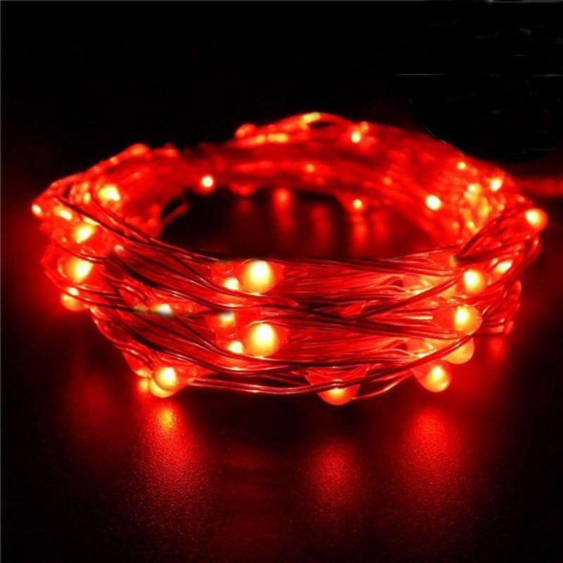 7.5 FT 20 LED Red String Light Lamp Fairy Home Outdoor Wedding Party