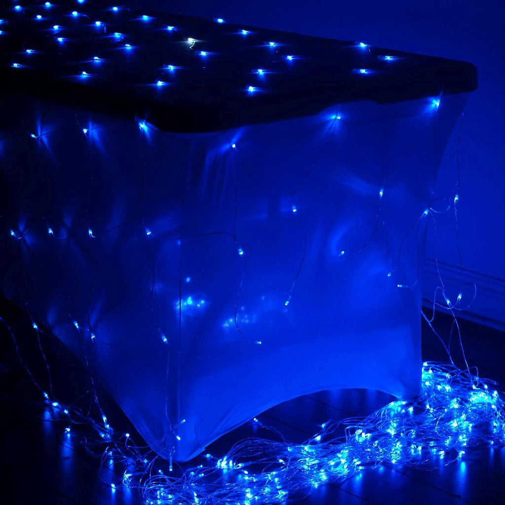 20FT 600 LED Sequential String Light Net For Wedding Party Event Backdrop Decoration - Blue