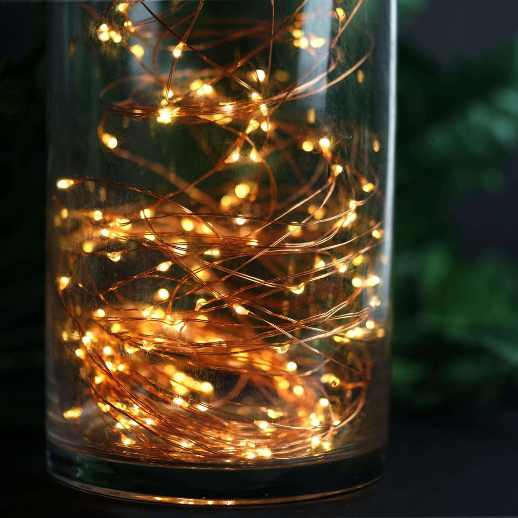 200 LED Warm White Battery Operated Fibre Optics String Backdrop Fairy Light