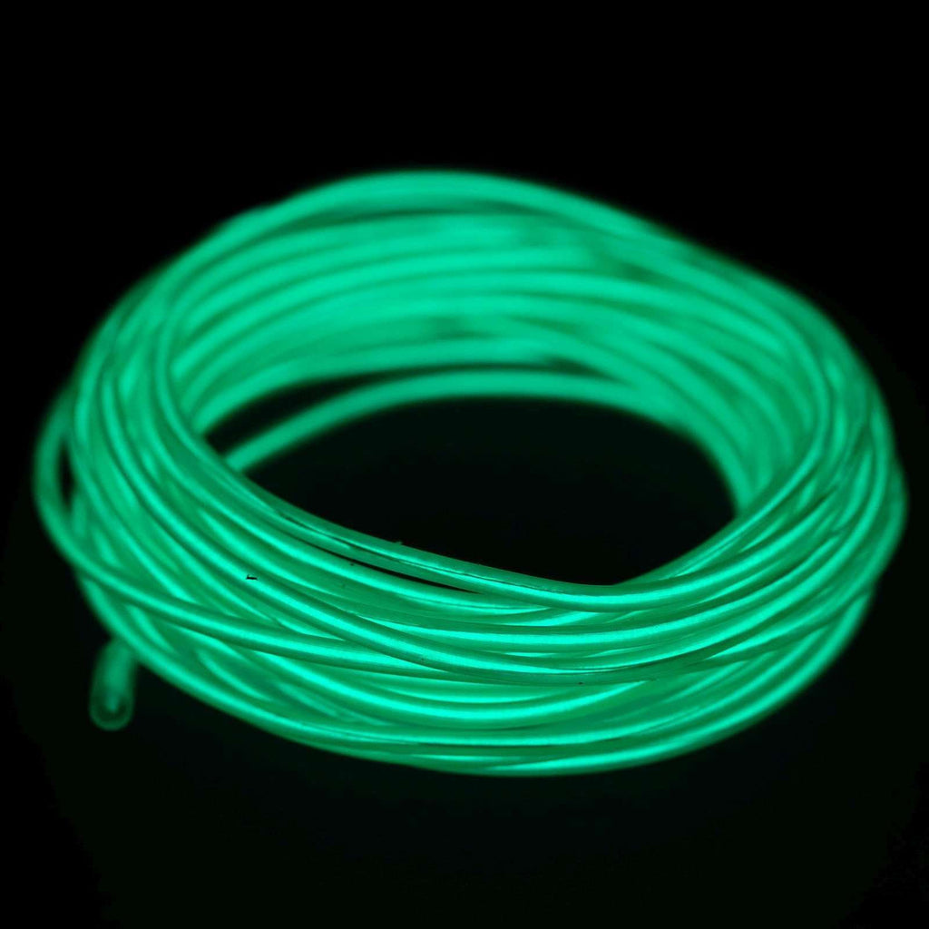 15FT Sound Activated Neon LED Tube Rope Light Car Party Decoration - GREEN