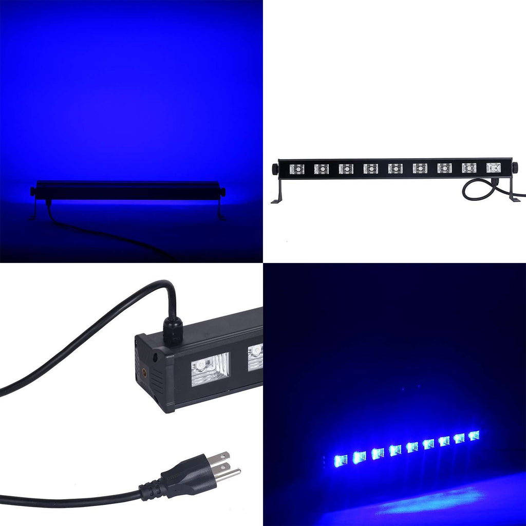 27 Watt Blue Super Bright 9 LED Wall Washer Backdrop Lighting Spotlight Fixture Bar