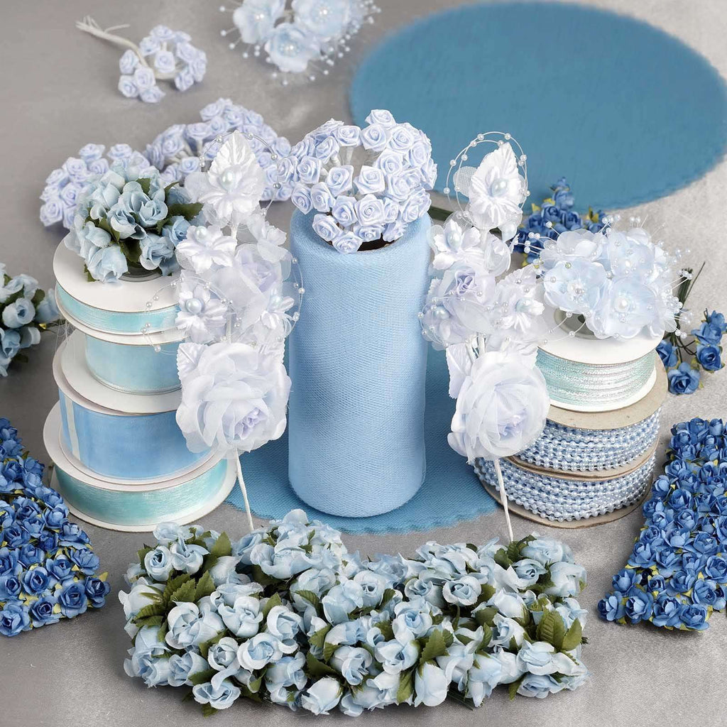 Huge lot of assorted decorations - Baby Blue