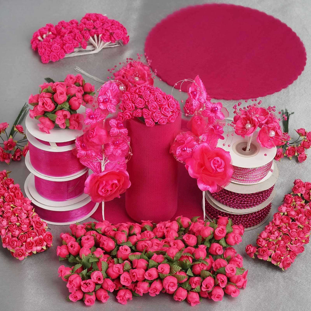 Huge lot of assorted decorations - Fushia