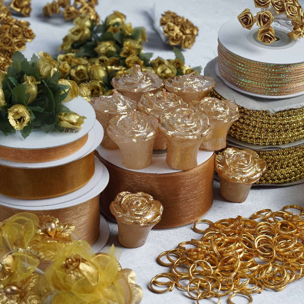 Huge lot of assorted decorations - Gold