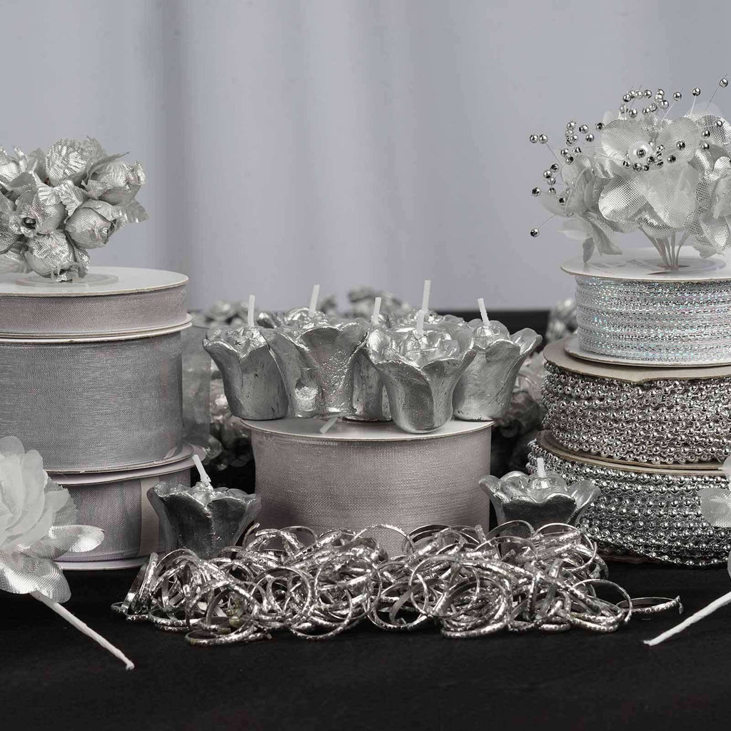 Huge lot of assorted decorations - Silver