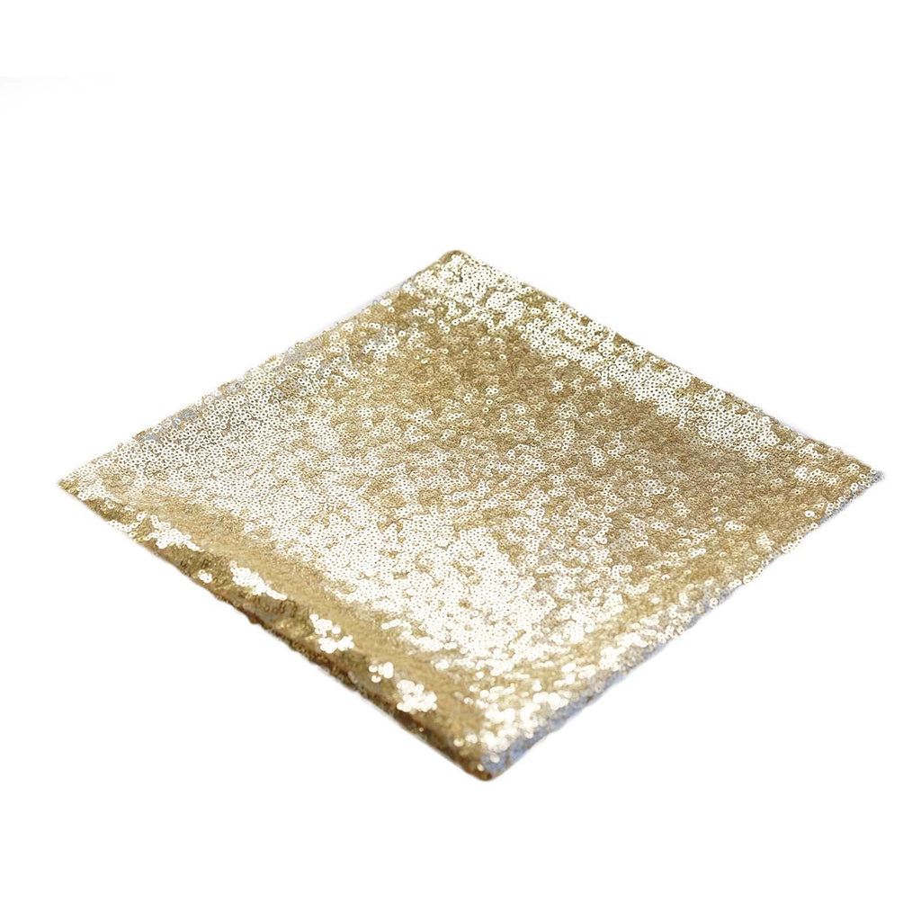 "1 PCS Champagne Premium Sequin Napkin For Wedding Birthday Party Tableware - 20""x20"""