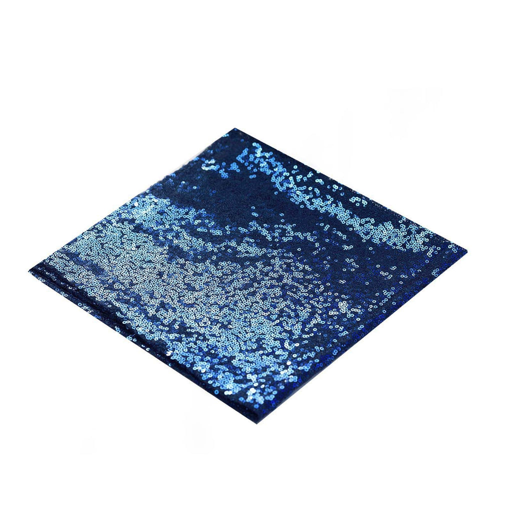 "1 PCS Navy Blue Premium Sequin Napkin For Wedding Birthday Party Tableware - 20""x20"""