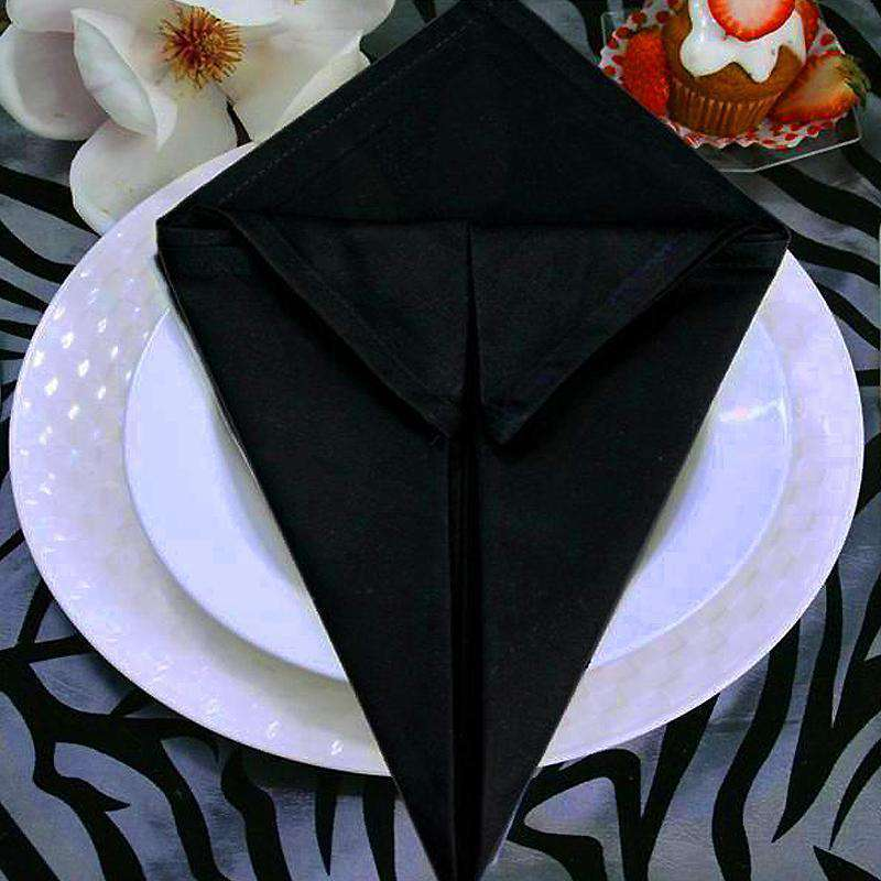 5 PCS Wholesale Black Chambury Casa Premium Cotton Napkins For Wedding Birthday Party Tableware - 20x20""