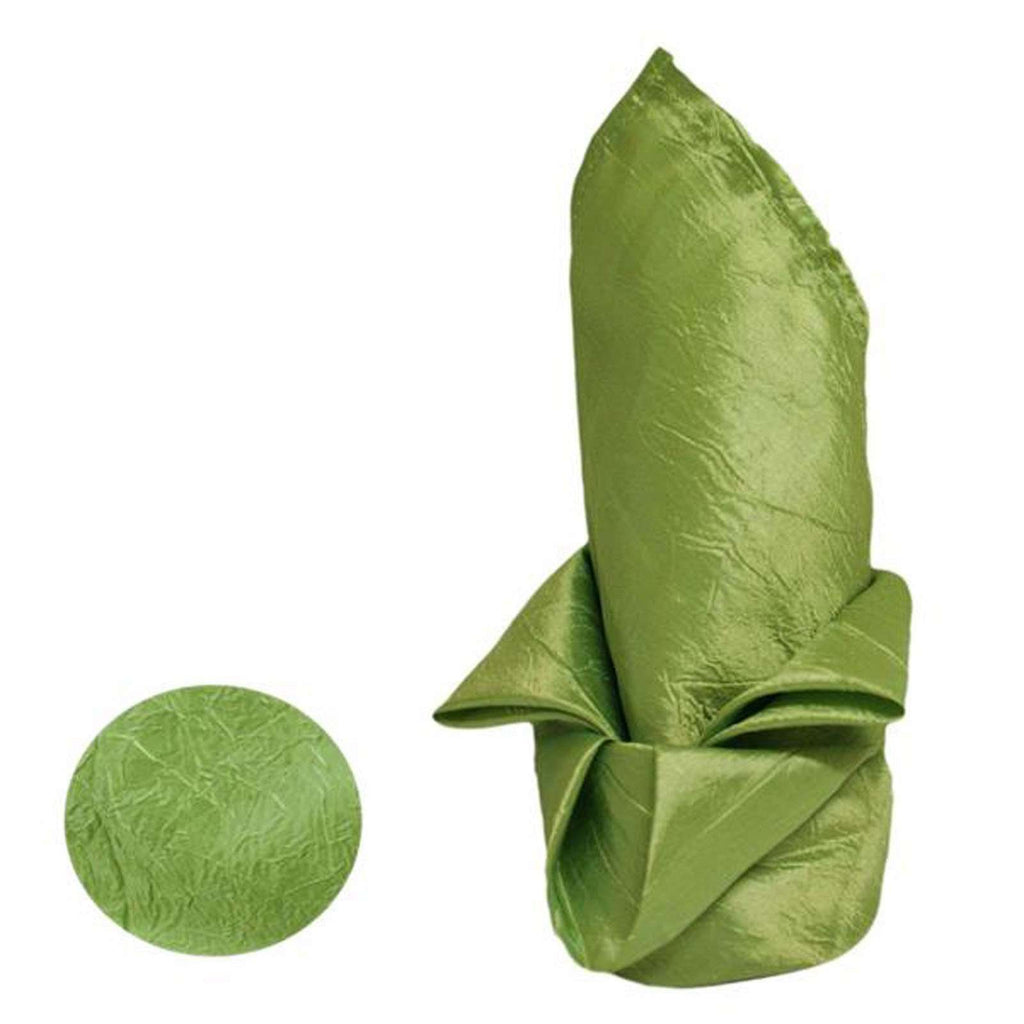5/pk Taffeta Crinkle Napkins - Apple Green