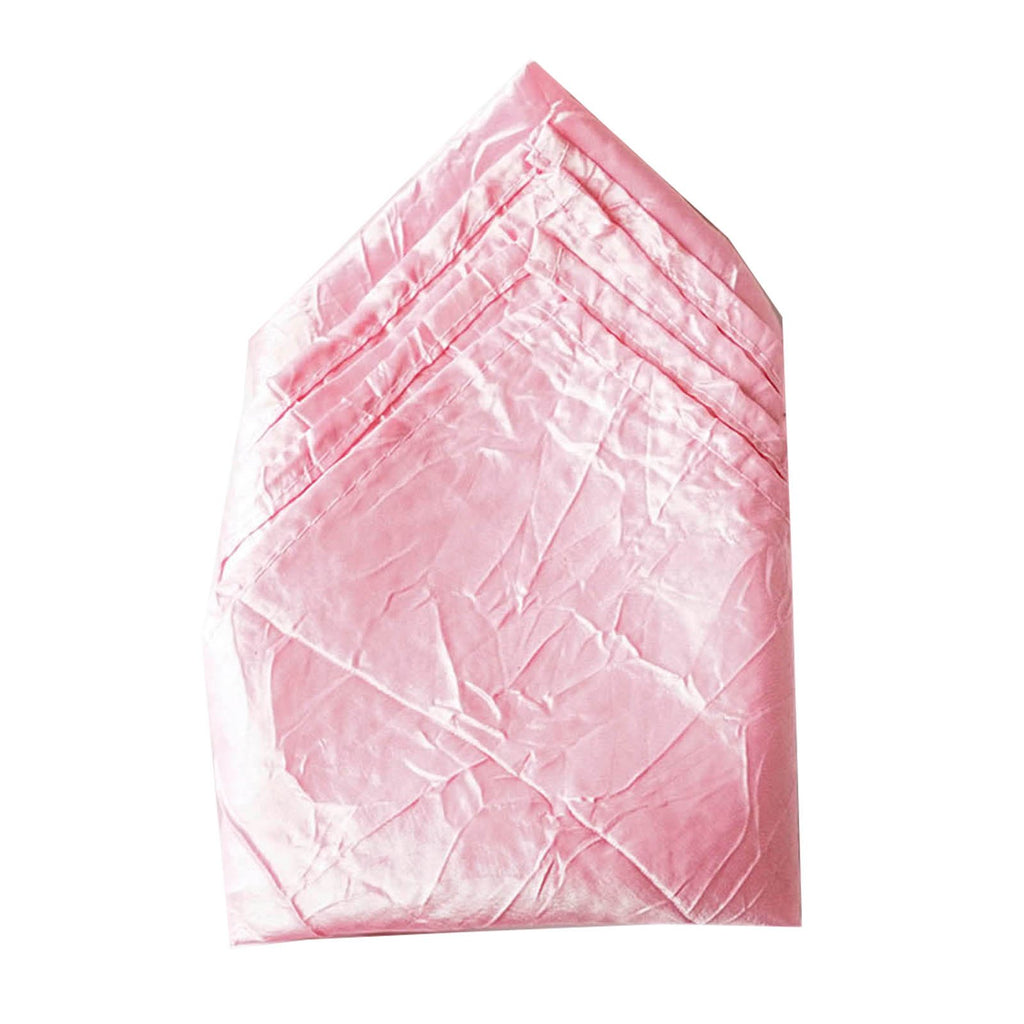 5 PCS Wholesale Pink Taffeta Crinkle Napkins For Wedding Birthday Party Tableware - 20x20""