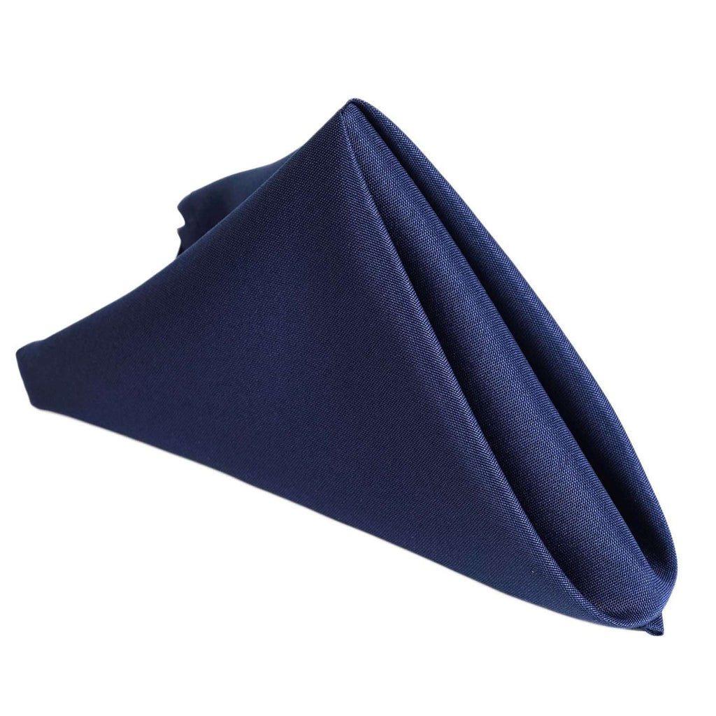 "17""x17"" NAVY BLUE Wholesale Polyester Linen Napkins For Wedding Birthday Party Tableware - 5 PCS"