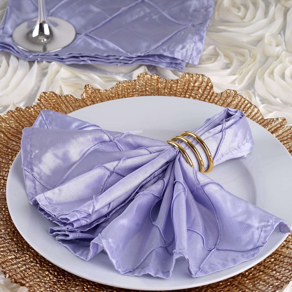"5 PCS Wholesale Lavender Pintuck Napkins For Wedding Birthday Party Tableware - 17""x17"""