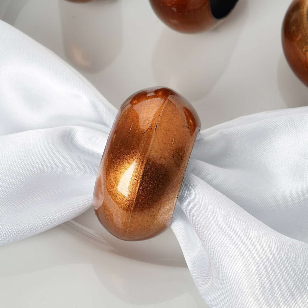4 PCS Wholesale Copper Acrylic Napkin Rings For Wedding Birthday Party Tableware
