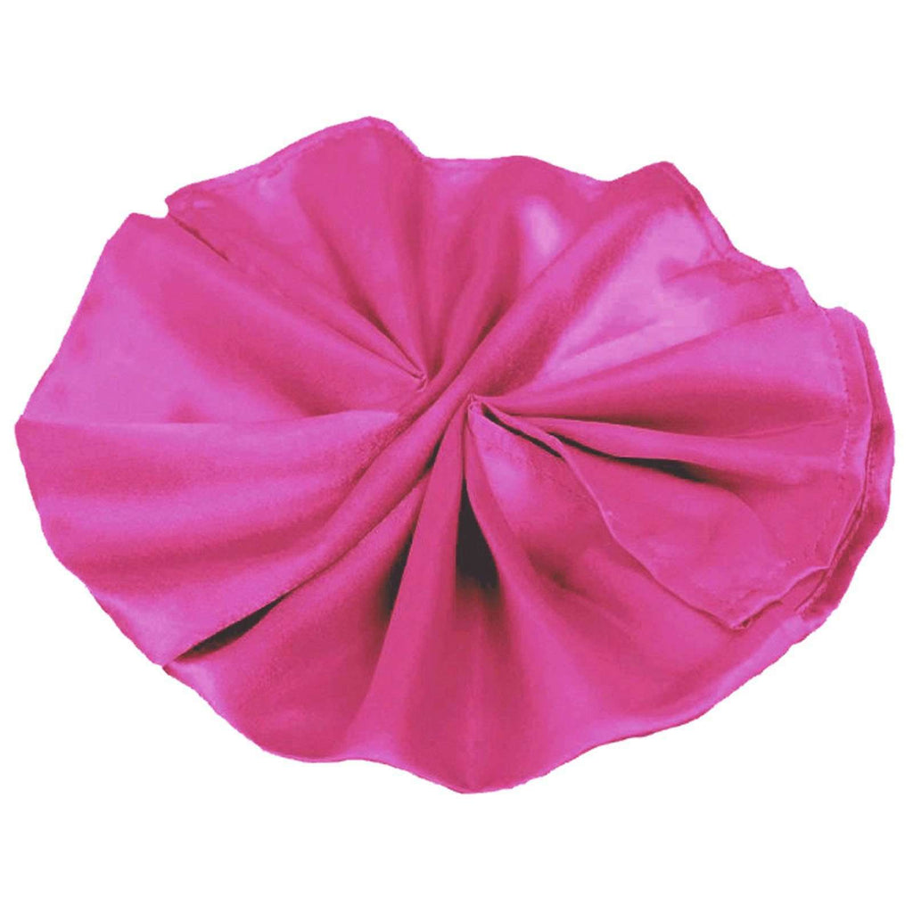 "20""x20"" Fushia Wholesale SATIN Linen Napkins For Wedding Birthday Party Tableware - 5 PCS"