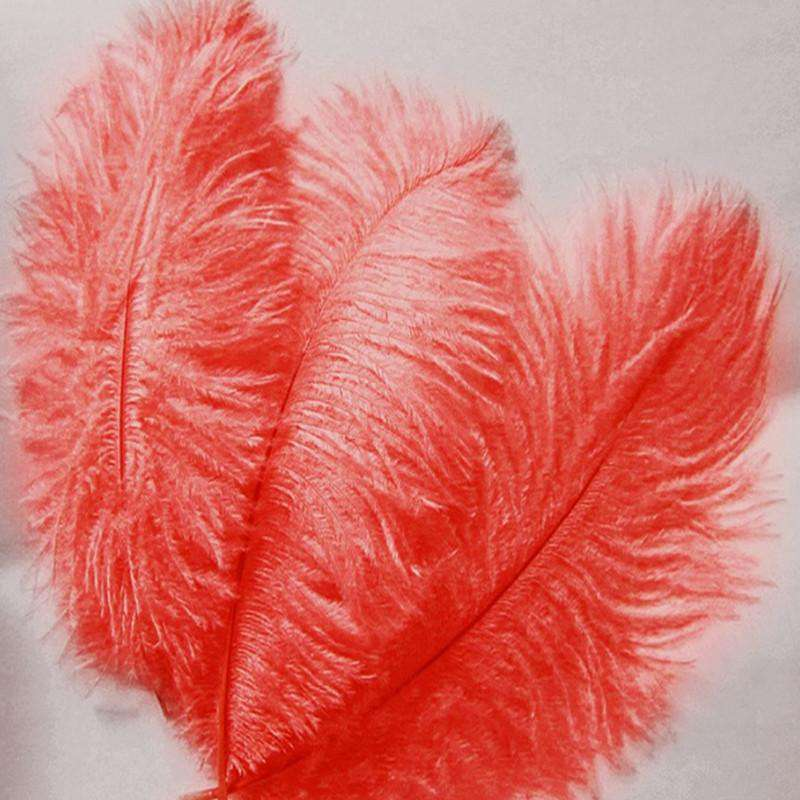 "13""-15"" Fabulous Natural Ostrich Feathers-12PCS - Red"
