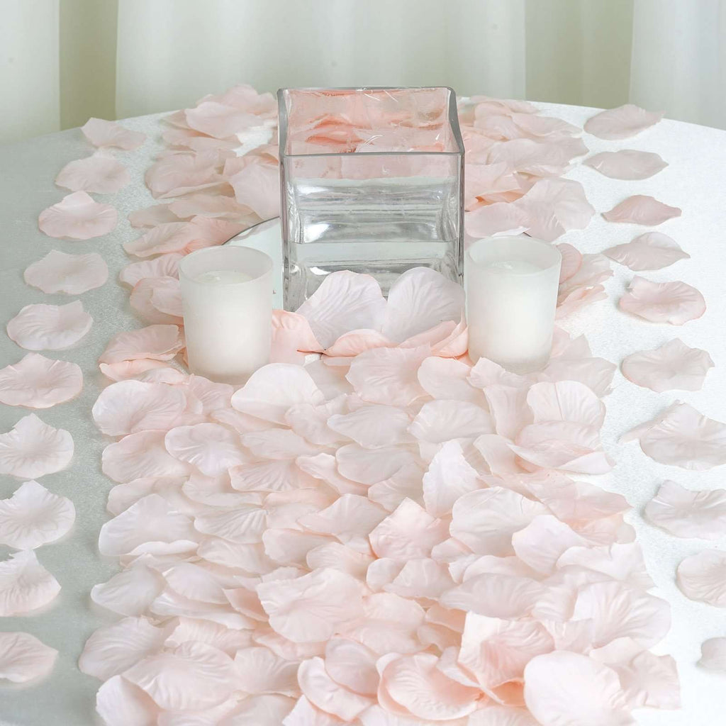 500 Silk Rose Petals - Blush