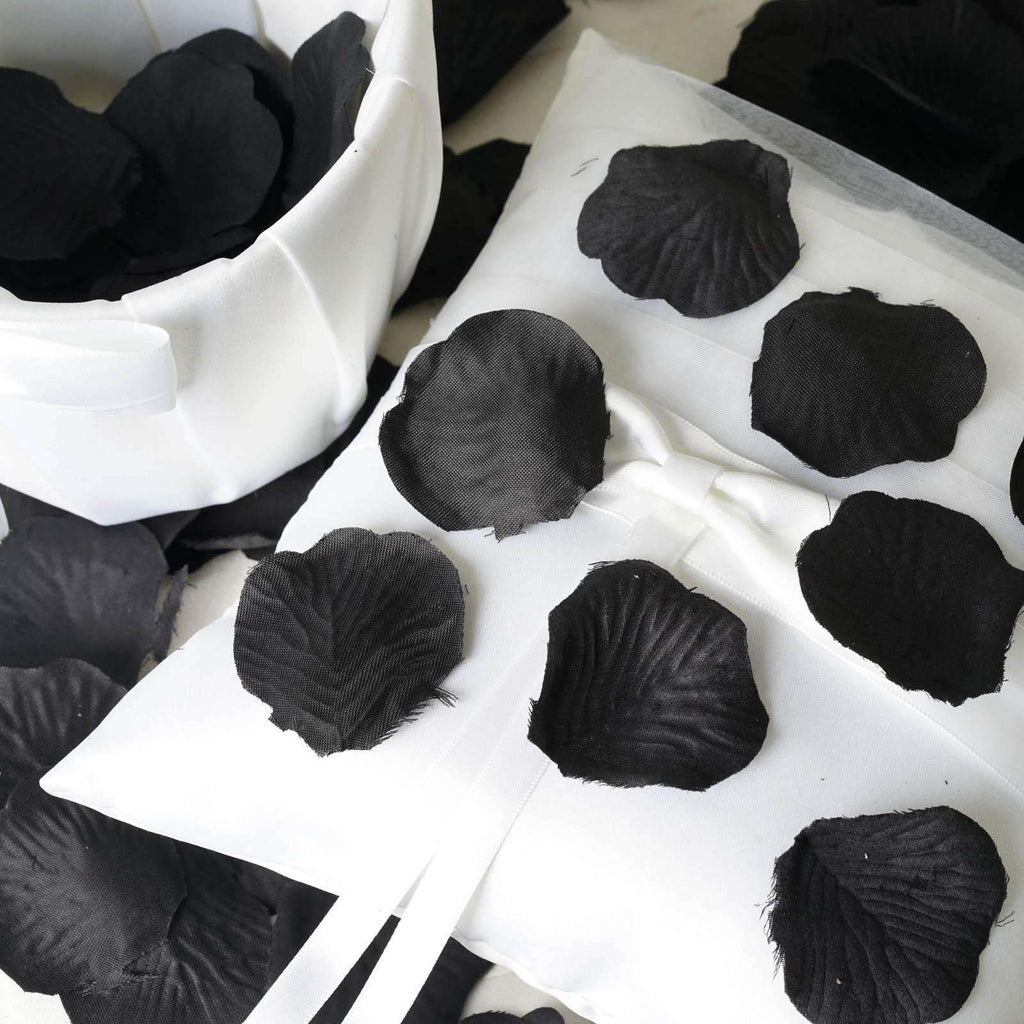 500 Silk Rose Petals - Black