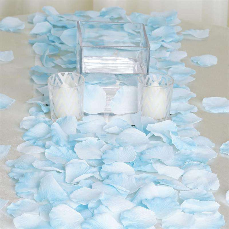 500 Silk Rose Petals - Blue
