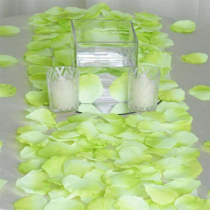 500 Silk Rose Petals - Mint