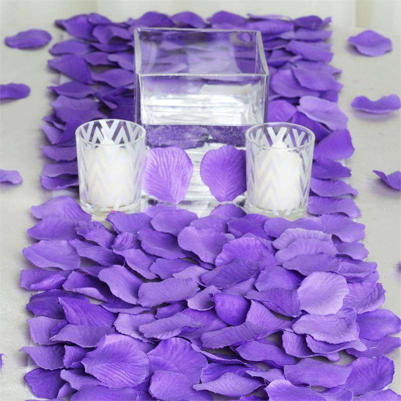500 Silk Rose Petals - Purple