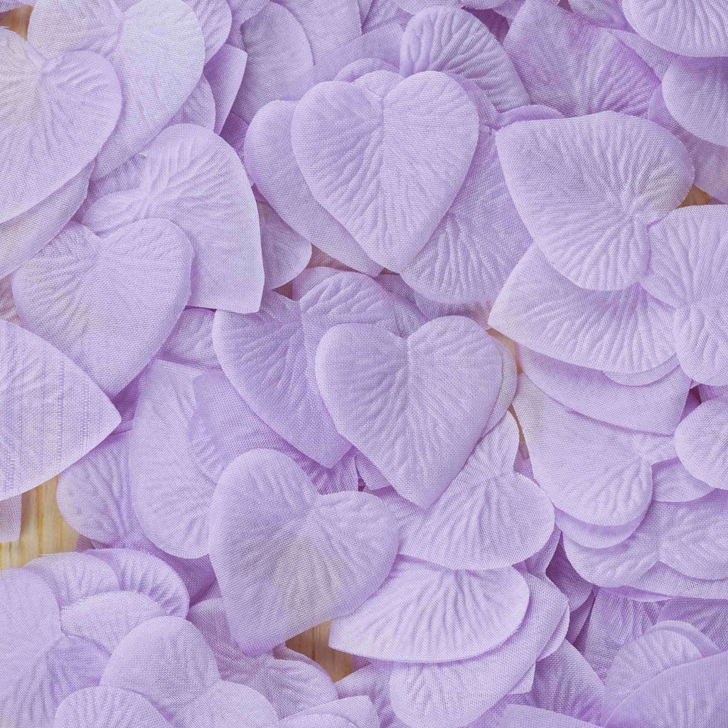 500 Pack Lavender Silk Heart Petal Confetti Table Aisle Decoration