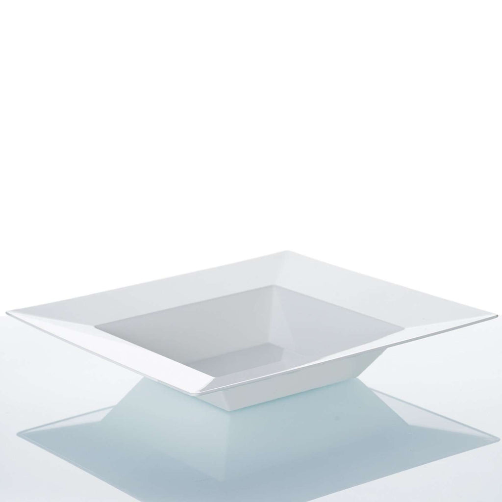 10 Pack - White 12oz Square Disposable Bowl - Sorrentine Collection