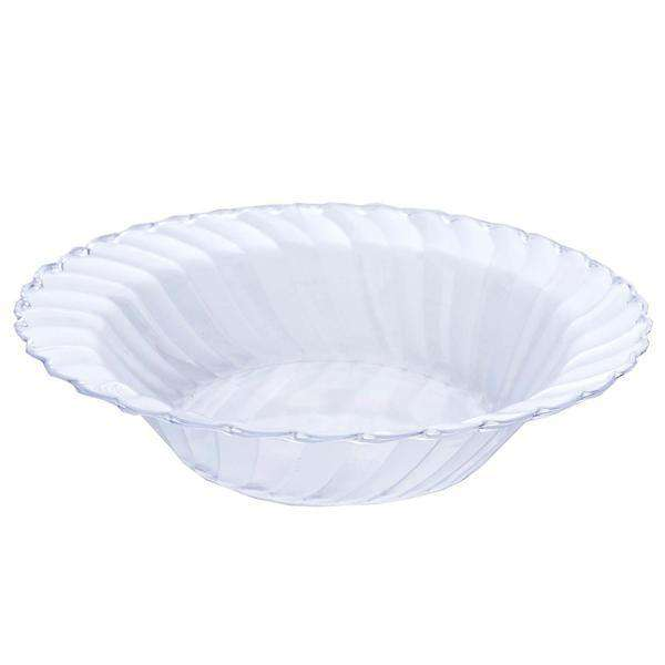 12 Pack 16oz Clear Flared Plastic Round Disposable Bowl
