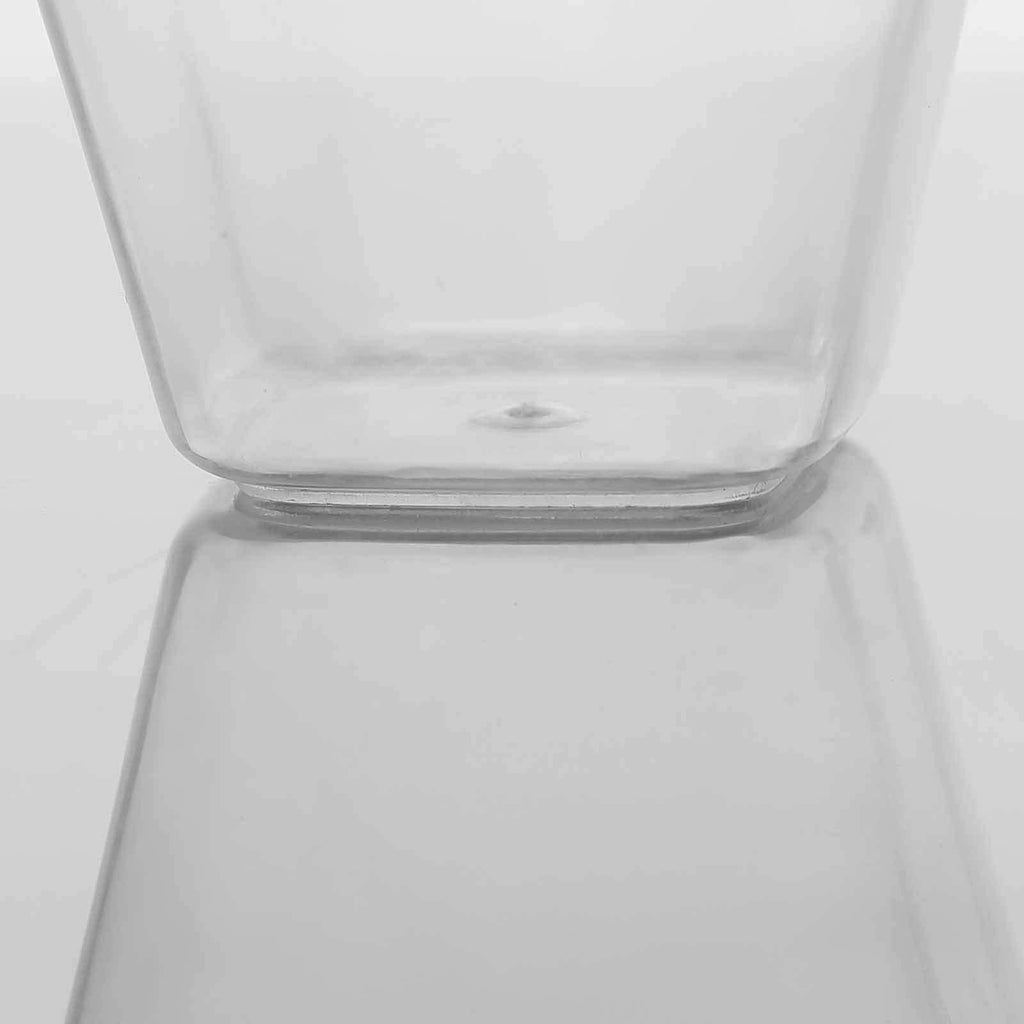 24 Pack 4oz Clear Disposable Rounded Cube Cup