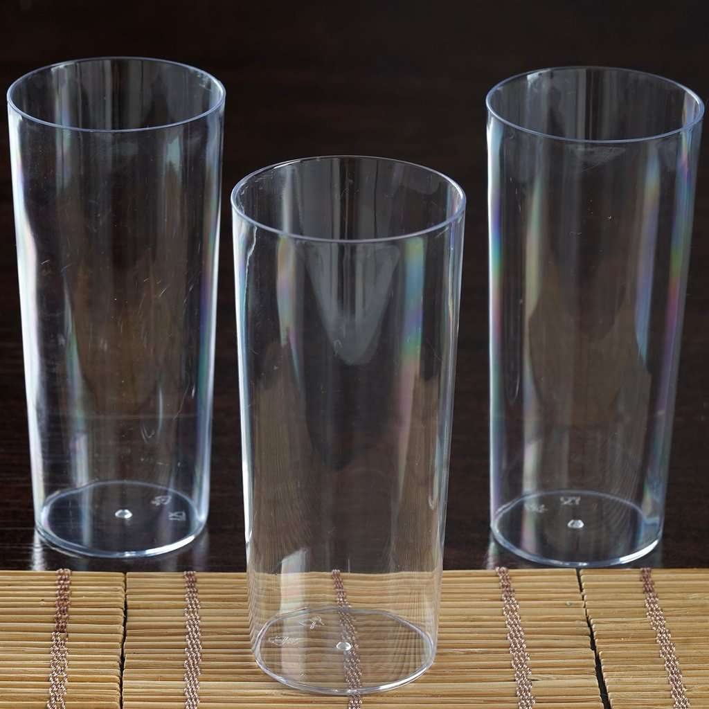 12 Pack 5 oz Plastic Round Straight Wall Disposable Shooter Dessert Glasses