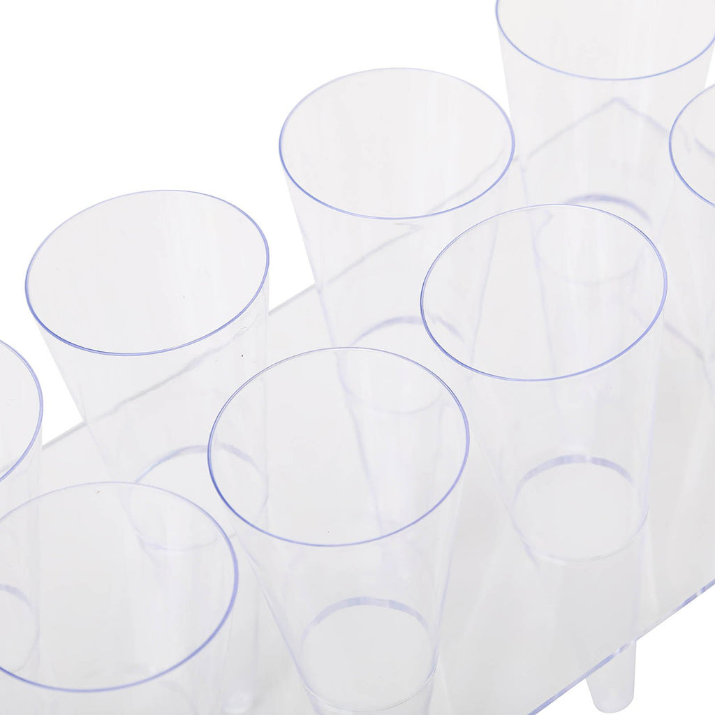 20 Pack 4oz Clear Disposable Cones With 2 Dessert Holders