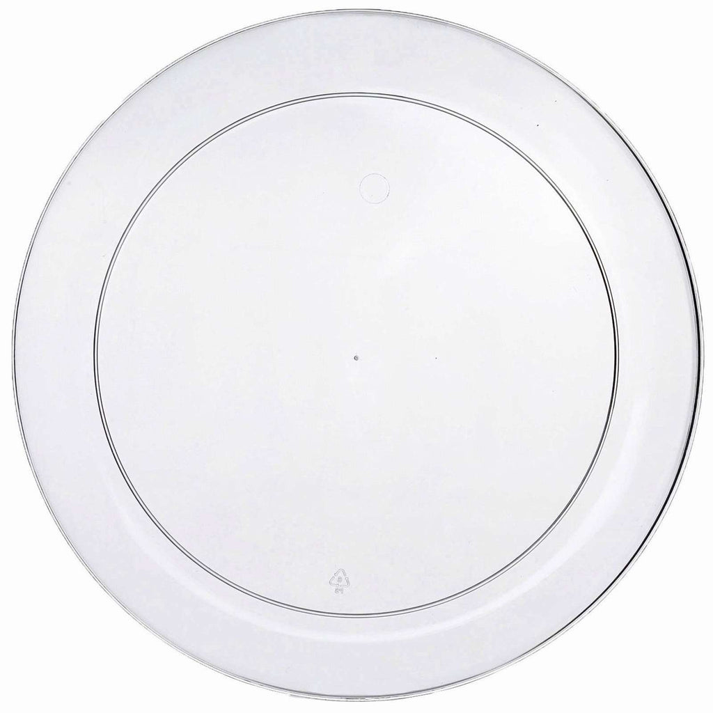 "20 Pack - Clear 10.25"" Round Disposable Plate - Crystal Collection"