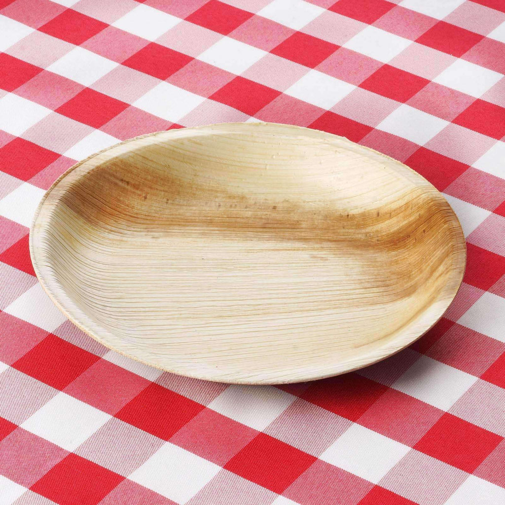 "7.2"" Round Eco-Friendly Palm Leaf Plate 25pk - Chambury Casa"