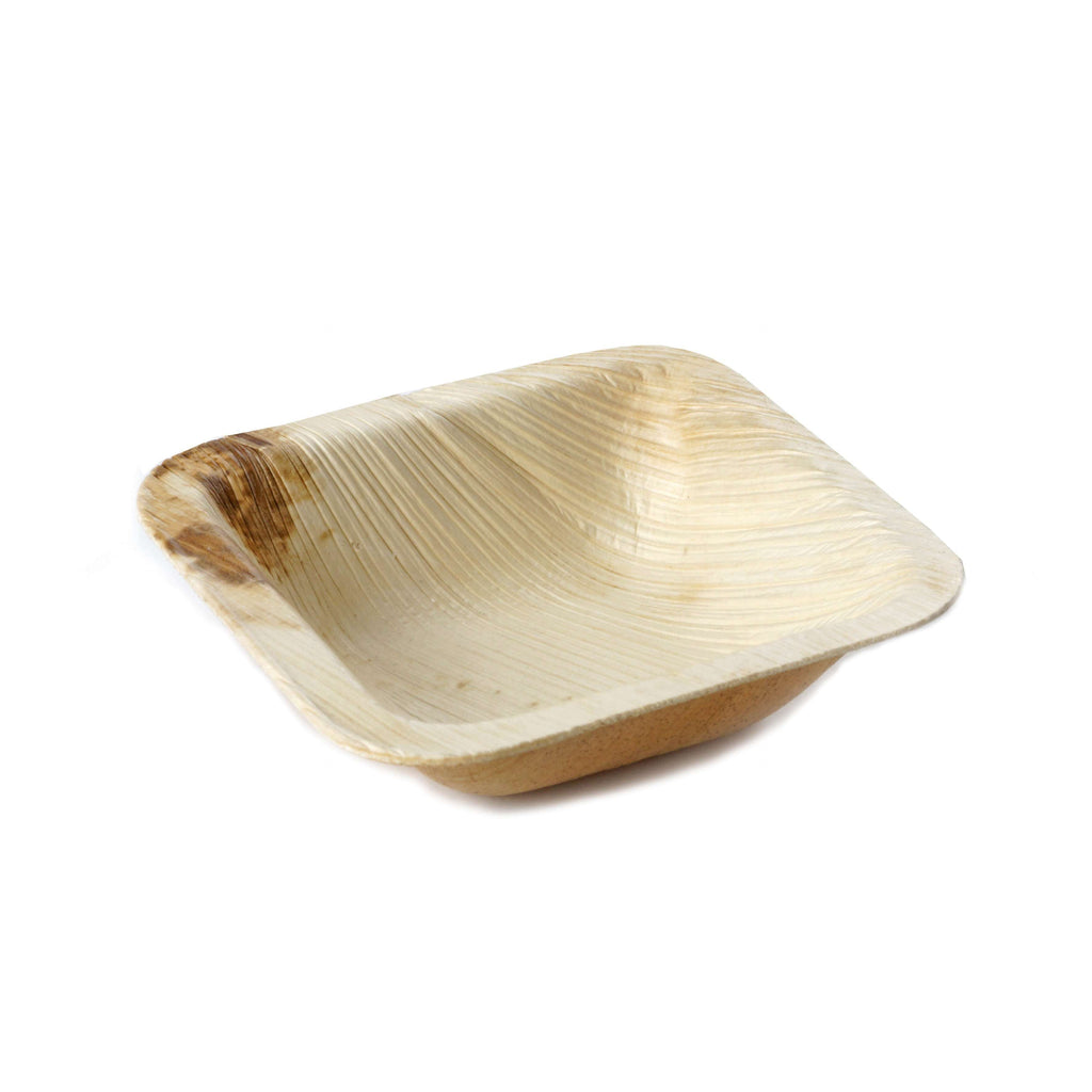 "25 Pack 3"" Eco-Friendly Chambury Casa Square Disposable Palm Leaf Plate"