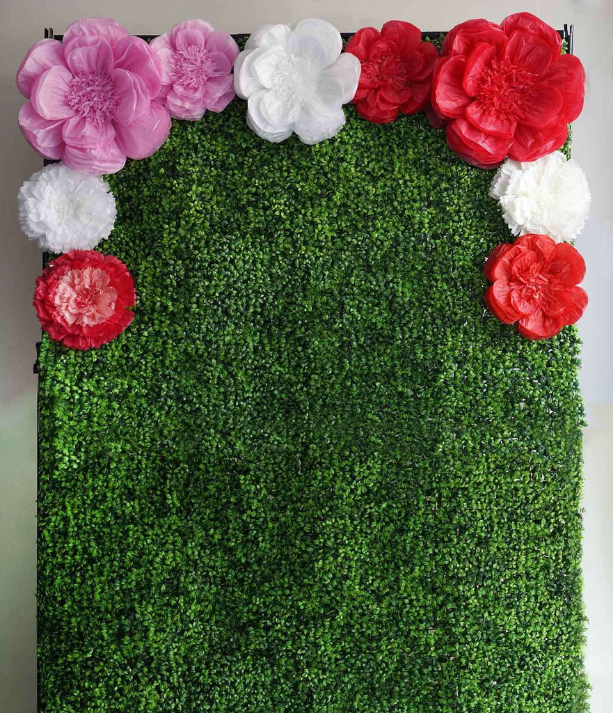 "2 Pack 12"" & 16"" Natural Sand DIY Giant Bloomed Peony Paper Flower Wall Backdrop Decor"