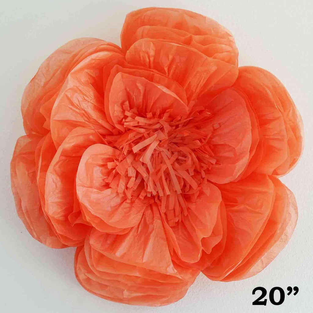 "2 Pack 20"" Coral Giant Bloomed Peony Paper Flower"
