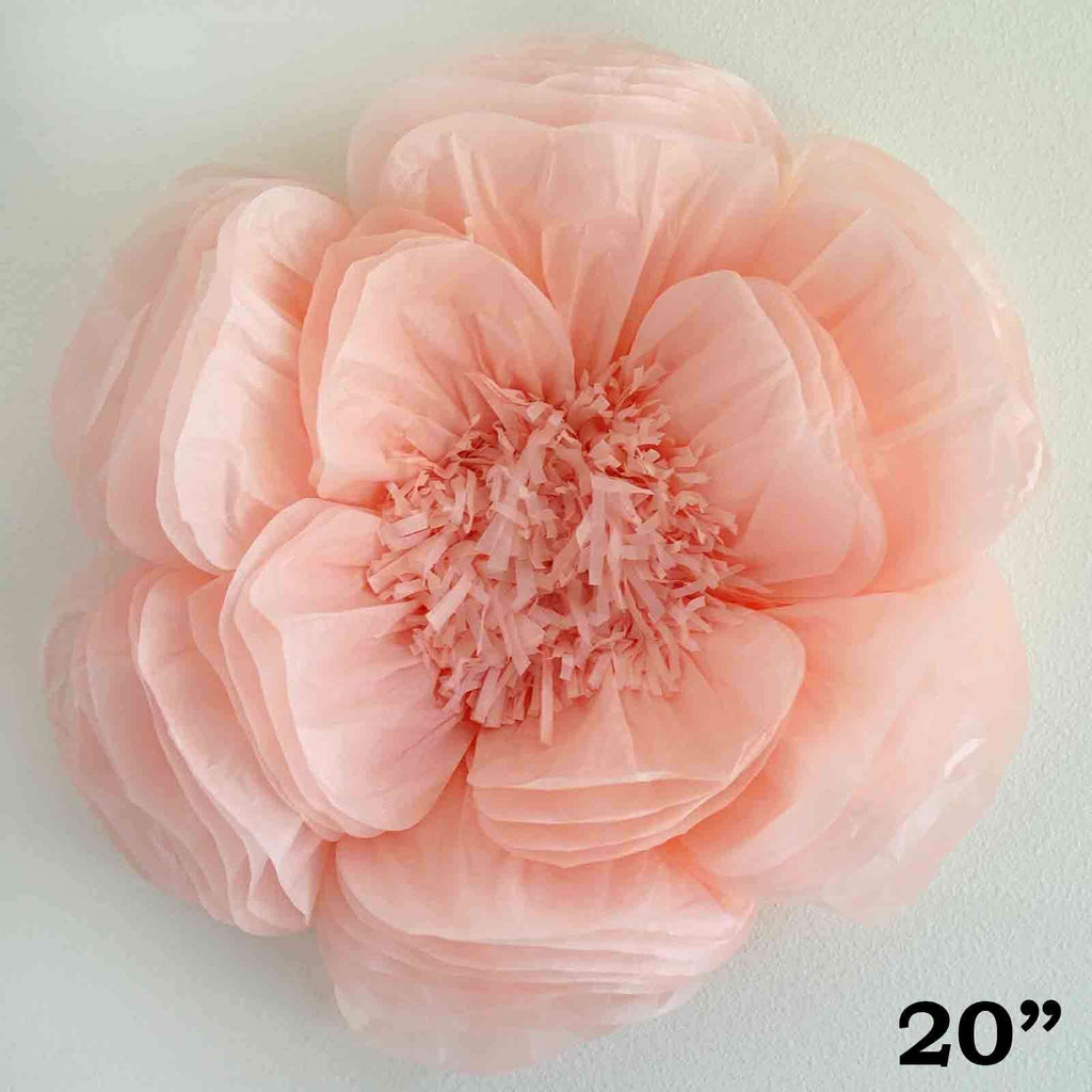 "2 Pack 20""  Giant Bloomed Peony Paper Flower- Rose Gold 