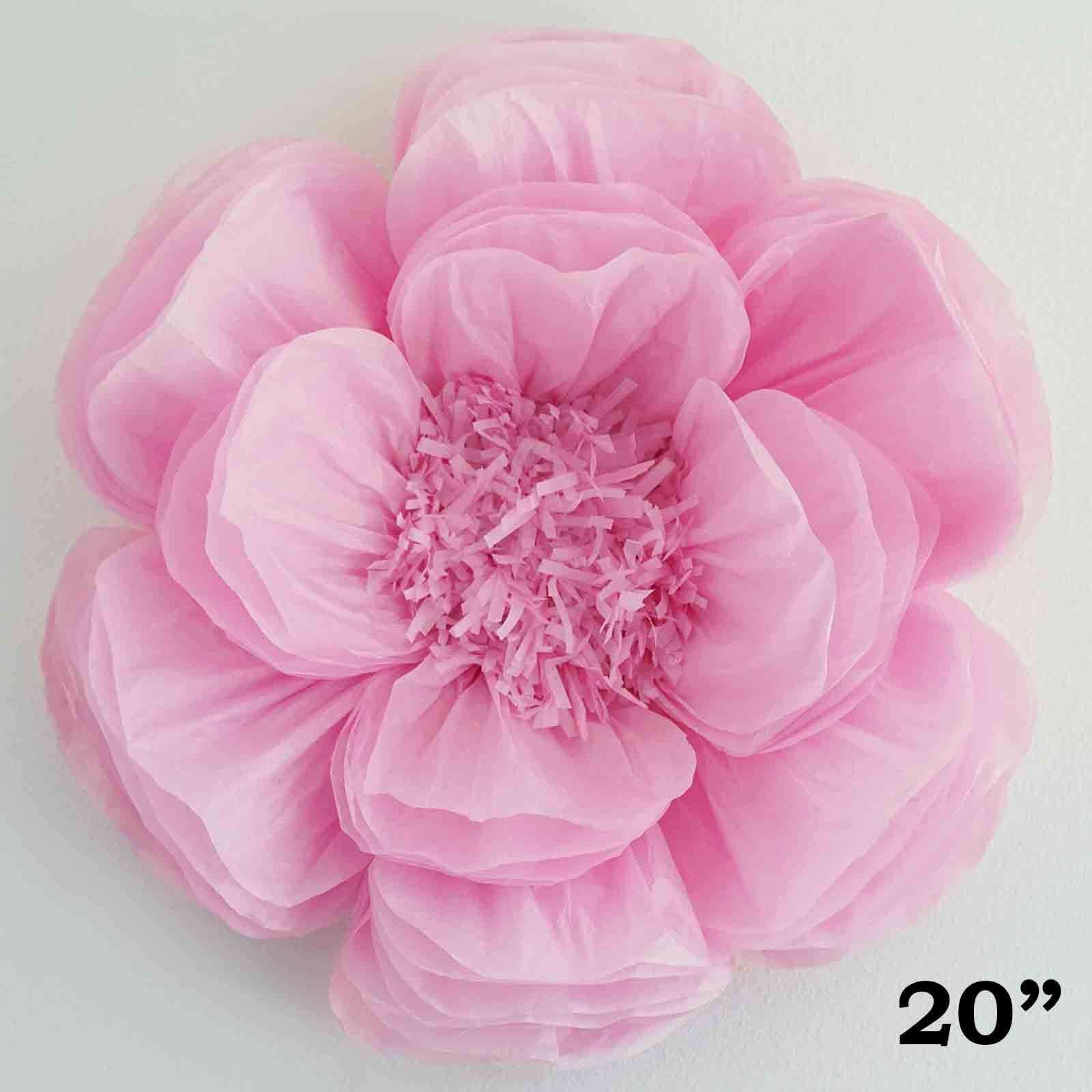 20 Pink Diy Giant Bloomed Peony Paper Flower Wall Backdrop Decor