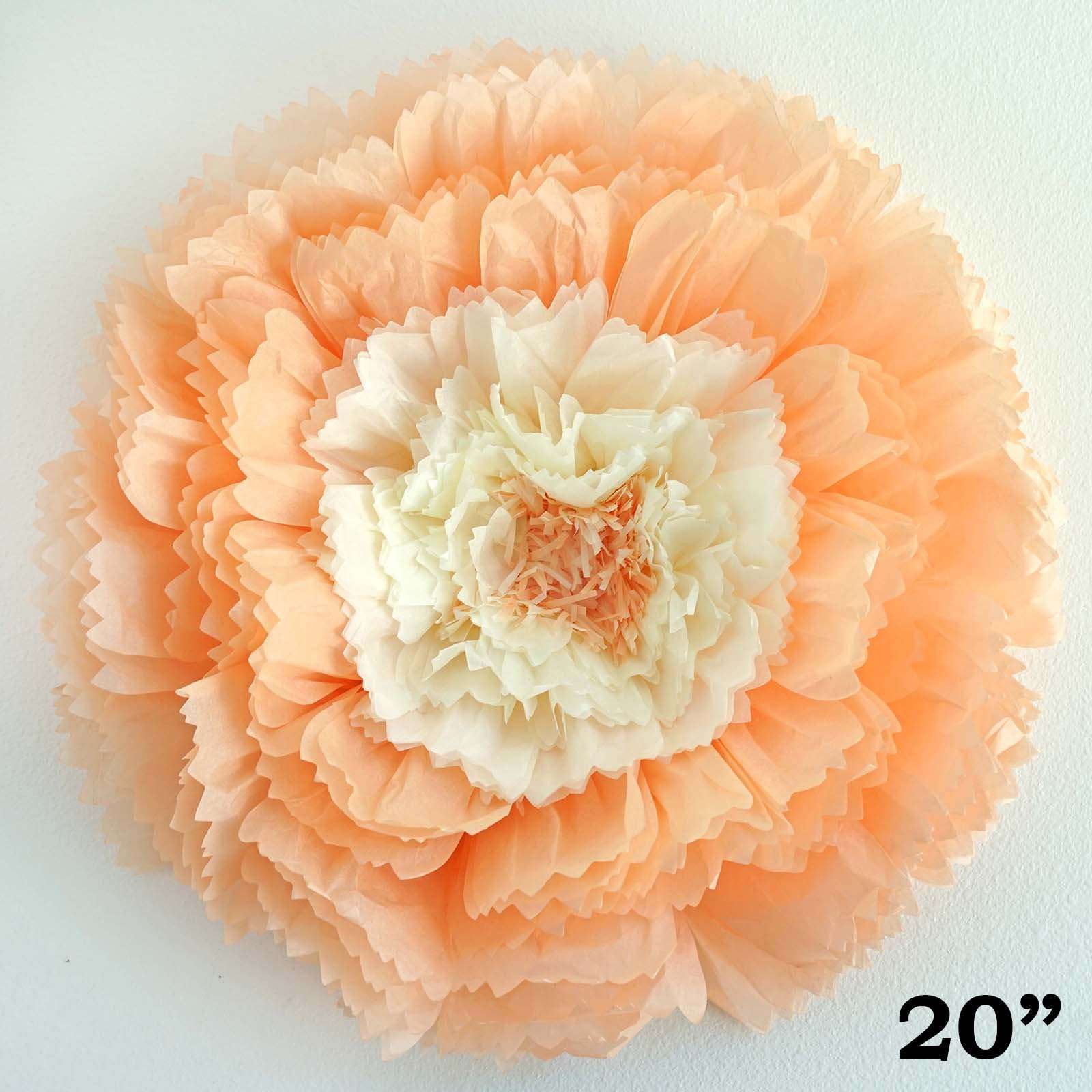 2 pack 20 light coral giant carnation paper flower chaircoverfactory 2 pack 20 light coral giant carnation paper flower mightylinksfo