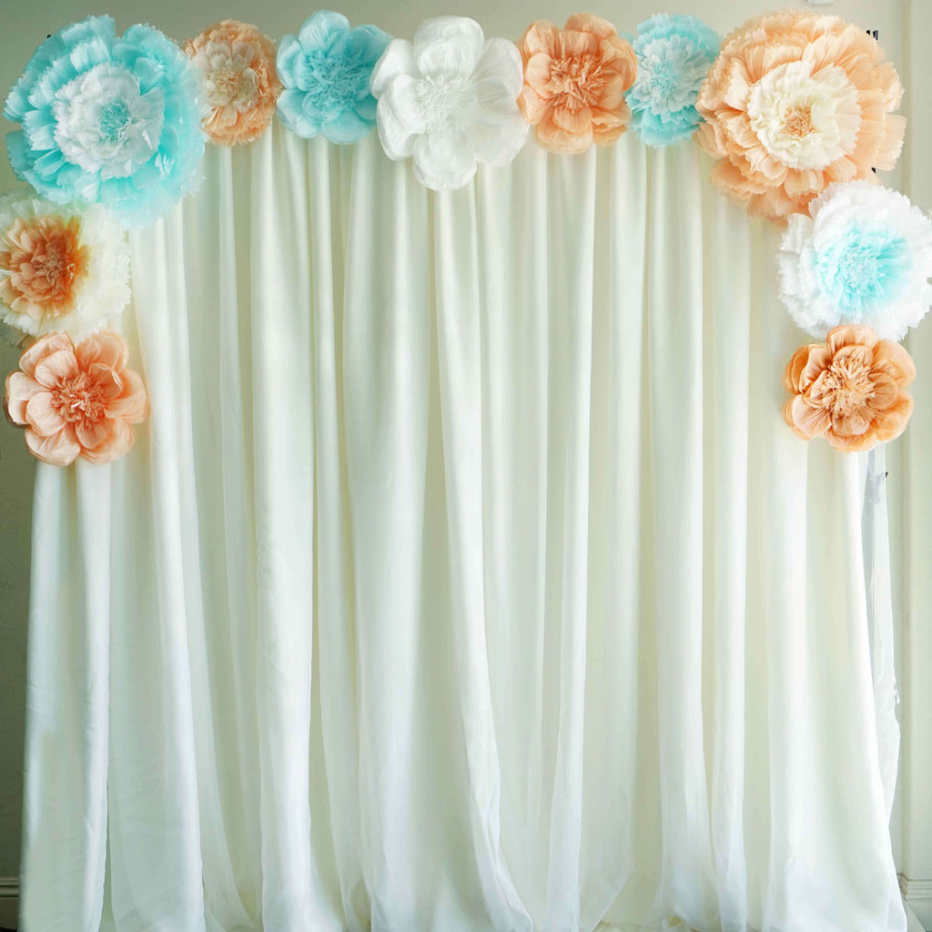 "20"" Coral DIY Giant Carnation Paper Flower Wall Backdrop Decor"