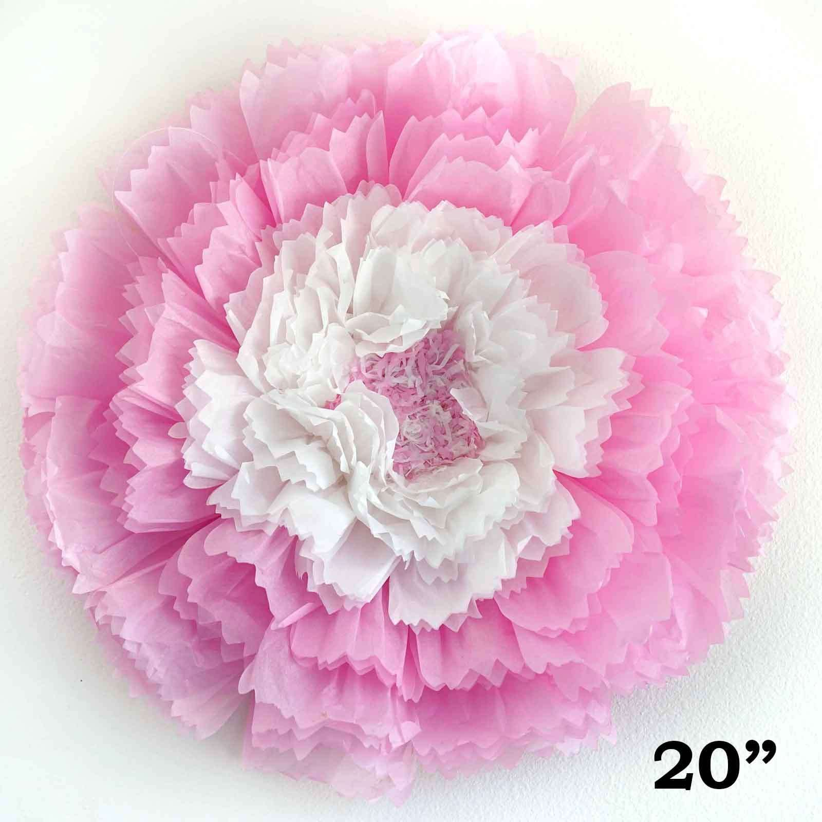 20 Pink Diy Giant Carnation Paper Flower Wall Backdrop Decor Chaircoverfactory