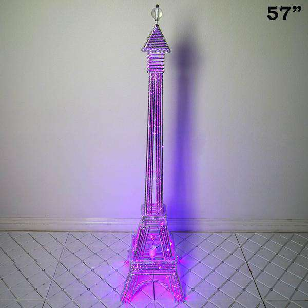 "57"" Color Changing LED Metal Eiffel Tower Wedding Event Party Columns"