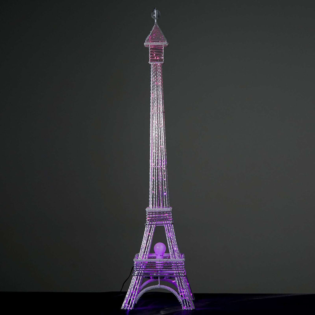 "57"" 1 Pc. Color Changing LED Metal Eiffel Tower Wedding Event Party Columns"